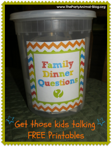 printable family dinner questions